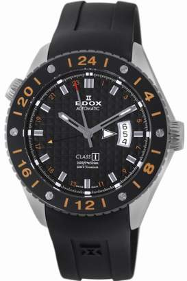 Edox Men's 'Class-1' Swiss Automatic Titanium and Rubber Casual Watch