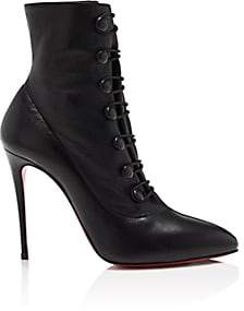 Christian Louboutin Women's French Tutu Leather Ankle Boots - Black