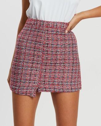 Atmos & Here Tibby Tweed Mini Skirt