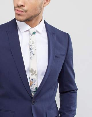 Asos Design DESIGN wedding rose floral tie