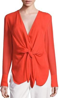 3.1 Phillip Lim Women's Silk Tie-Front Blouse