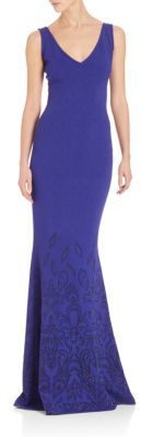 St. John Bead Embellished Floral Print Gown $2,495 thestylecure.com