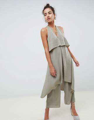 Asos Design DESIGN jumpsuit with multi layers