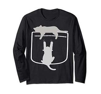Cartoon Cats In Your Pocket Long Sleeve For Gift