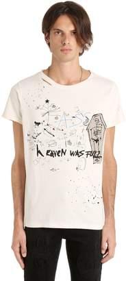 Heaven Was Full Print Distressed T-Shirt