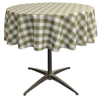 Zipcode Design Andrade Polyester Gingham Checkered Round Tablecloth