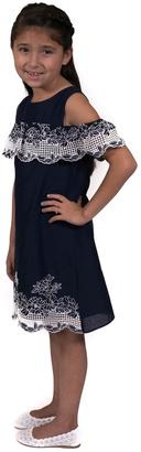 Rare Editions Navy Lattice Dress $36 thestylecure.com