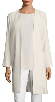 Eileen Fisher Open-Front Silk Crepe Jacket $438 thestylecure.com