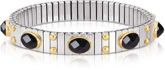 Nomination Small Black Cubic Zirconia Stainless Steel w/Golden Studs Women's Bracelet