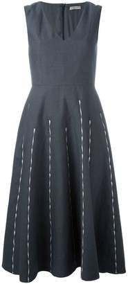 Bottega Veneta embroidered stripe dress
