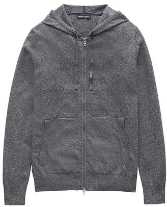 Banana Republic Cotton-Linen Full-Zip Sweater Hoodie