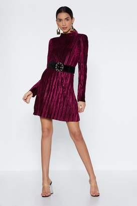 Nasty Gal Pleats and Thank You Velvet Dress