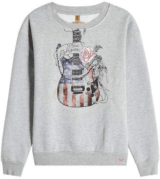 True Religion Printed Sweatshirt with Cotton