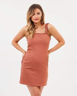 Bardot Shift Frill Dress