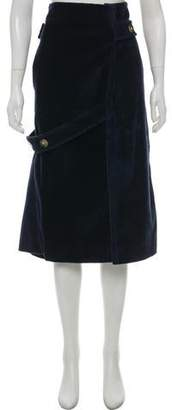 Victoria Beckham Corduroy Midi Skirt