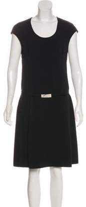 Celine Céline Sleeveless Wool Dress Black Céline Sleeveless Wool Dress