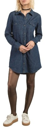 Women's Volcom Cham Jam Chambray Shirtdress $65 thestylecure.com
