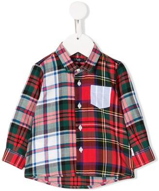 Il Gufo tartan checked shirt