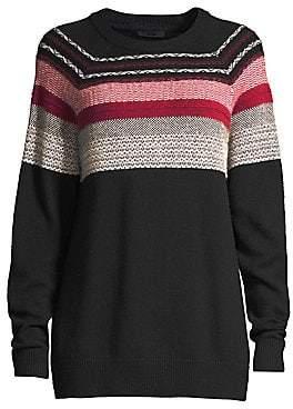 ATM Anthony Thomas Melillo Women's Merino Wool Fair Isle Sweater