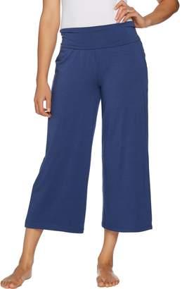 Anybody AnyBody Loungewear Cozy Knit Foldover Waist Gaucho Pants