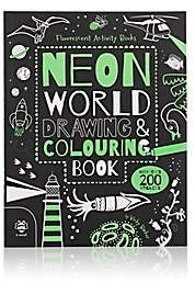 Ingram Publisher Neon World: Drawing & Colouring Book