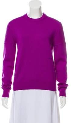 Calvin Klein Medium-Weight Cashmere Embroidered Logo Sweater Purple Medium-Weight Cashmere Embroidered Logo Sweater