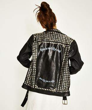 Victoria's Secret The People The End Motor Leather Jacket Black