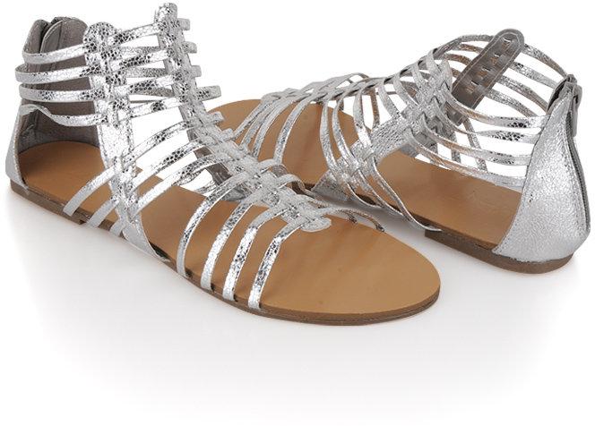 Forever 21 Metallic Gladiator Sandals