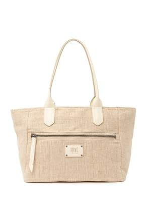 Frye Ivy Leather Trimmed Zip Tote
