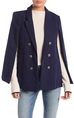 L'Atiste Solid Woven Cape Jacket