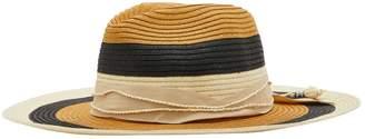 Sensi Studio Striped Panama hat with straw details