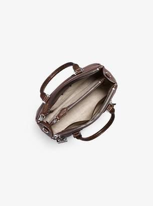 Michael Kors Casey Medium Leather and Crocodile Satchel