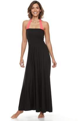 Women's Beach Scene Convertible Maxi Dress Cover-Up
