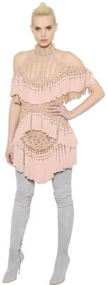 Embellished Tulle Dress With Tassels $24,913 thestylecure.com