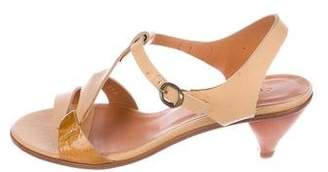 Coclico Leather T-Strap Sandals