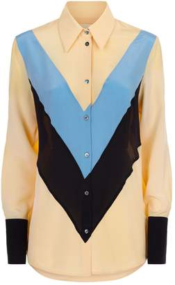 Victoria Beckham Victoria, Silk Colour Block Shirt