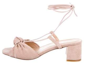 For Love & Lemons Suede Wrap-Around Sandals