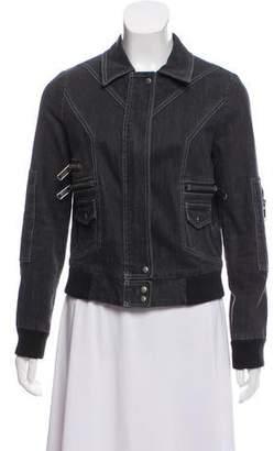 Marc Jacobs Zip-Accented Denim Jacket