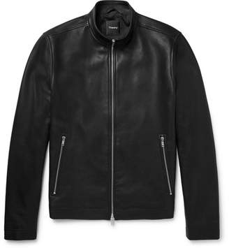 Theory Morvek Café Racer Leather Jacket