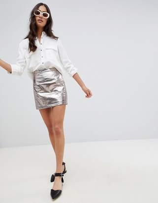 Glamorous metalic a-line skirt