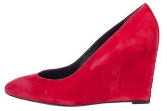 Brian Atwood Suede Wedge Pumps