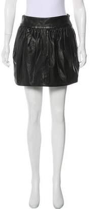 Barbara Bui Faux Leather Mini Skirt