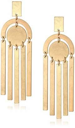 Panacea Women's Shiny Gold Art Deco Drop Earrings