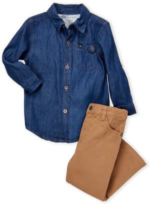 Calvin Klein Jeans Toddler Boys) Two-Piece Chambray Shirt & Jeans Set