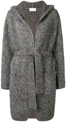 Fabiana Filippi tie waist hooded cardi-coat