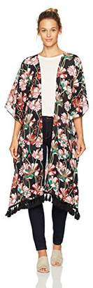 Ella Moon Women's Serena Fringe Kimono