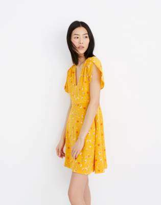 Madewell Silk Belladonna Dress in Painted Carnations