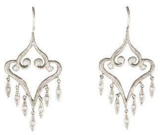 Cathy Waterman Platinum Diamond Aladdin Chandelier Earrings