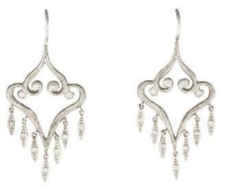 Cathy Waterman Platinum Diamond Aladdin Chandelier Earrings
