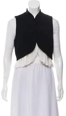 Cinq à Sept Crop Button-Up Vest